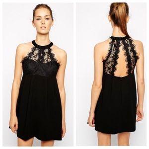 BCBG Generation Black Lace Babydoll Dress